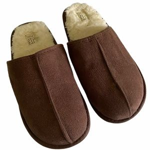 James Fiallo brown slippers fluffly insole